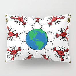 Crawfish Mandala Pillow Sham