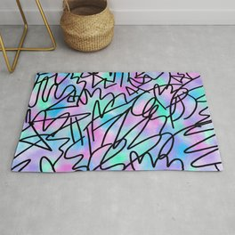Watercolour Abstract Pastel Leotard Rug