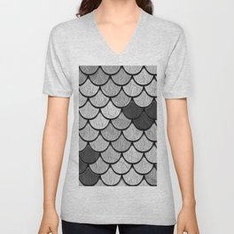 Dragon Scales with Black Outline Unisex V-Neck