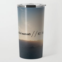 collect moments // not things Travel Mug