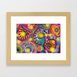 Biology of Lovers on a Rainy Night (Horizontal) Framed Art Print