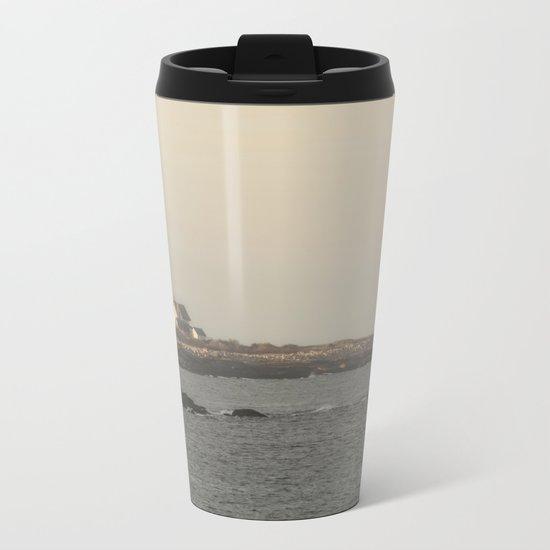 Hazy Straitsmouth lighthouse Metal Travel Mug