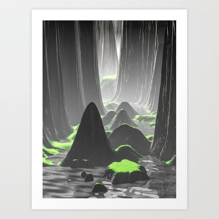 Foggy Canyon Walls Art Print
