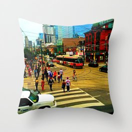 Toronto In The Afternoon Throw Pillow