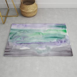 25   190907   Watercolor Abstract Painting Rug