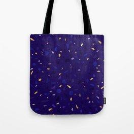Blue Terrazzo Pattern Tote Bag