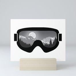 Moonrise Goggles - B+W - Black Frame | Goggle Designs | DopeyArt Mini Art Print
