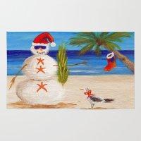 sandman Area & Throw Rugs featuring Christmas Sandman by Vivid Perceptions