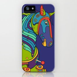 Horse, cool wall art for kids and adults alike iPhone Case