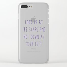 Look Up At The Stars Motivational Quote Clear iPhone Case