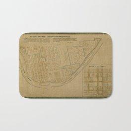 Map Of Allegheny 1863 Bath Mat