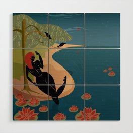 Kuan Yin Beneath a Willow Wood Wall Art