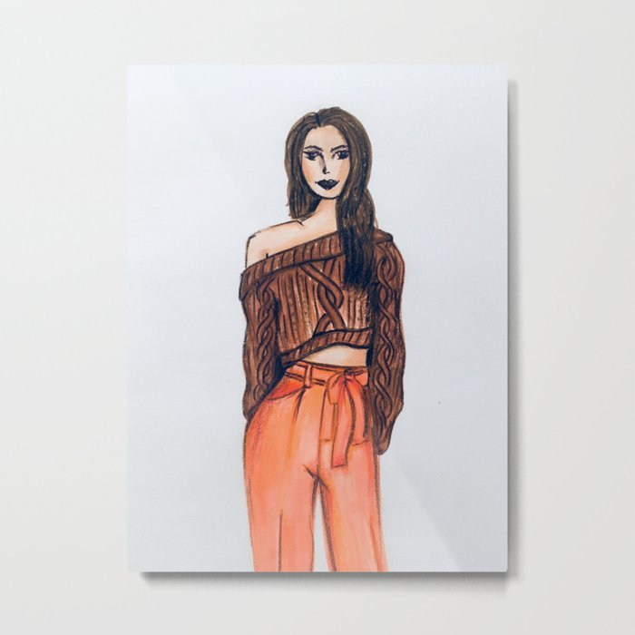 Casual Girl Metal Print