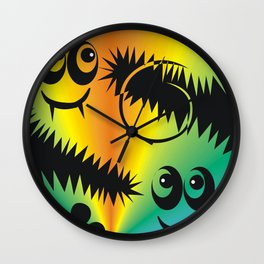 CVAn0047 Fussy Monster Happy Whimsical Wall Clock