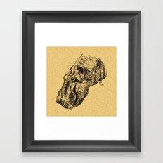 Herbert Hippopotamus Framed Art Print