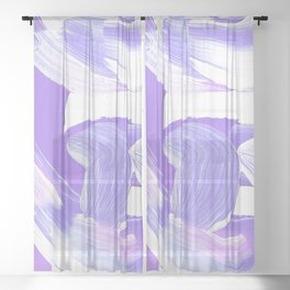 Shades of Purple Brush Stroke pattern #abstractart Sheer Curtain