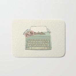 Retro typewriter Bath Mat