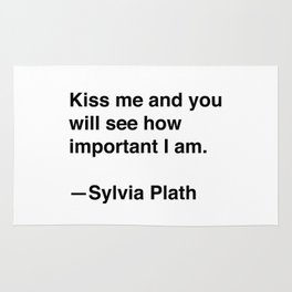 Sylvia Plath on Kissing Rug