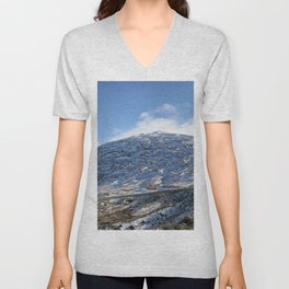 The Drive to Cardrona Ski Fields from Queenstown, New Zealand Unisex V-Neck