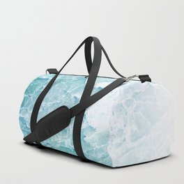 Sea Dream Marble - Aqua and blues Duffle Bag