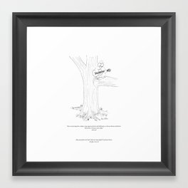 """niki owl quote, """"Remember to honour your dreams daily."""" Framed Art Print"""