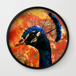 Rock and a Peacock Wall Clock