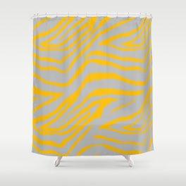 ANIMAL PRNT ZEBRA GRAY AND GOLDEN YELLOW 2019 Shower Curtain