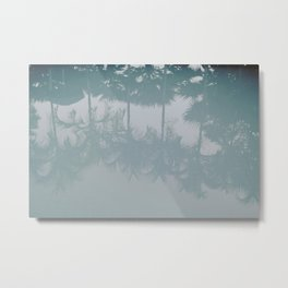 palm trees v Metal Print