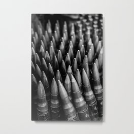 Rounds for Rounds Black and White Metal Print