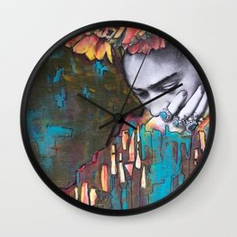 frida loves turquoise Wall Clock