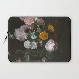 Willem Van Aelst - Vanitas Flower Still Life Laptop Sleeve