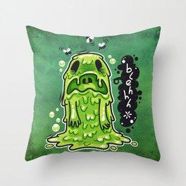 Cartoon Nausea Monster Throw Pillow