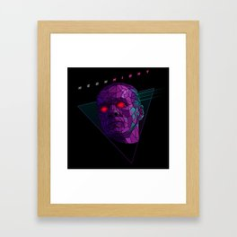 Neonnight 80s cyborg Framed Art Print