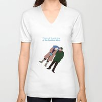eternal sunshine V-neck T-shirts featuring Eternal Sunshine of the Spotless Mind by bonieiji