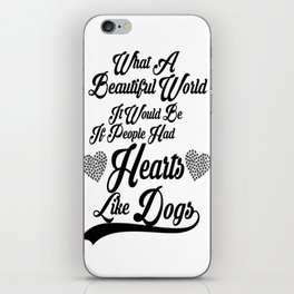 Heart Like Dogs iPhone Skin
