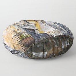 Urban Sicilian Facade Floor Pillow