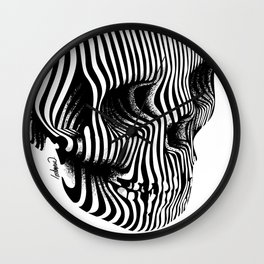 Skull Lines Tattoo Wall Clock