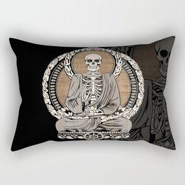 Starving Buddha - Wood Grain Rectangular Pillow