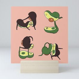Avocado Yoga Relationship Goals Mini Art Print