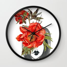 Look through the Flowers 2 Wall Clock