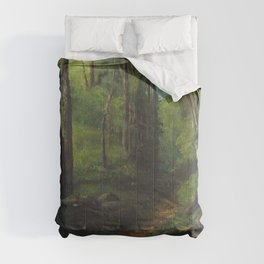 """Gustave Courbet """"Path through the Forest"""" Comforters"""