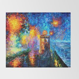 The 10th Doctor who Starry the night Art painting iPhone 4 4s 5 5c 6 7, pillow case, mugs and tshirt Throw Blanket