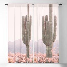 Vintage Cactus Blackout Curtain