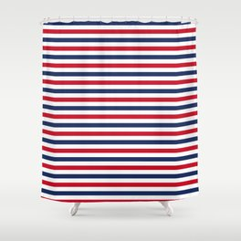 Navy Stripes Shower Curtain