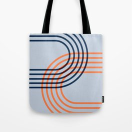 Counterbalance - orange blue Tote Bag