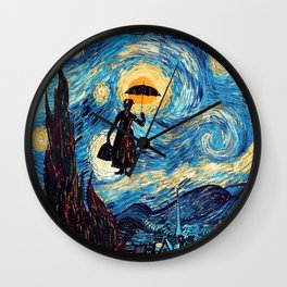 mary poppins Starry Night oil painting iPhone 4 4s 5 5c 6, pillow case, mugs and tshirt Wall Clock