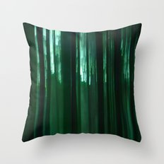 Forest In Green Throw Pillow