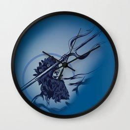 Poseidon God Of the Sea Wall Clock