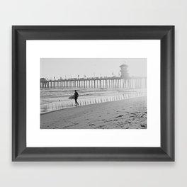 Huntington Beach Pier Framed Art Print