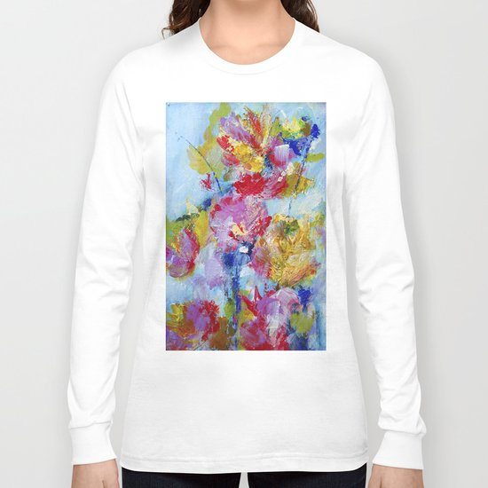 Abstract floral painting 5 Long Sleeve T-shirt